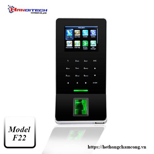 Máy chấm công kiểm soát cửa ZKTeco F22/ID wifi
