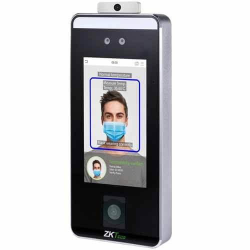 Thiết bịi chấm công kiểm soát ra vào nhận diện khuôn mặt phát hiện đeo khẩu trang, QR Code, đo nhiệt độ Speedface V5L QR TD