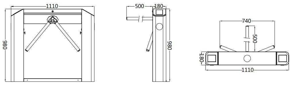 TS2100 Dimension